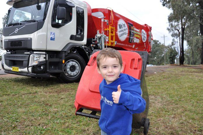 It'll be all right on bin night – 4 year old Parker is a big fan of garbage trucks