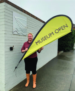 OPEN: Rebecca Turnbull, Acting Museum & Gallery Director.
